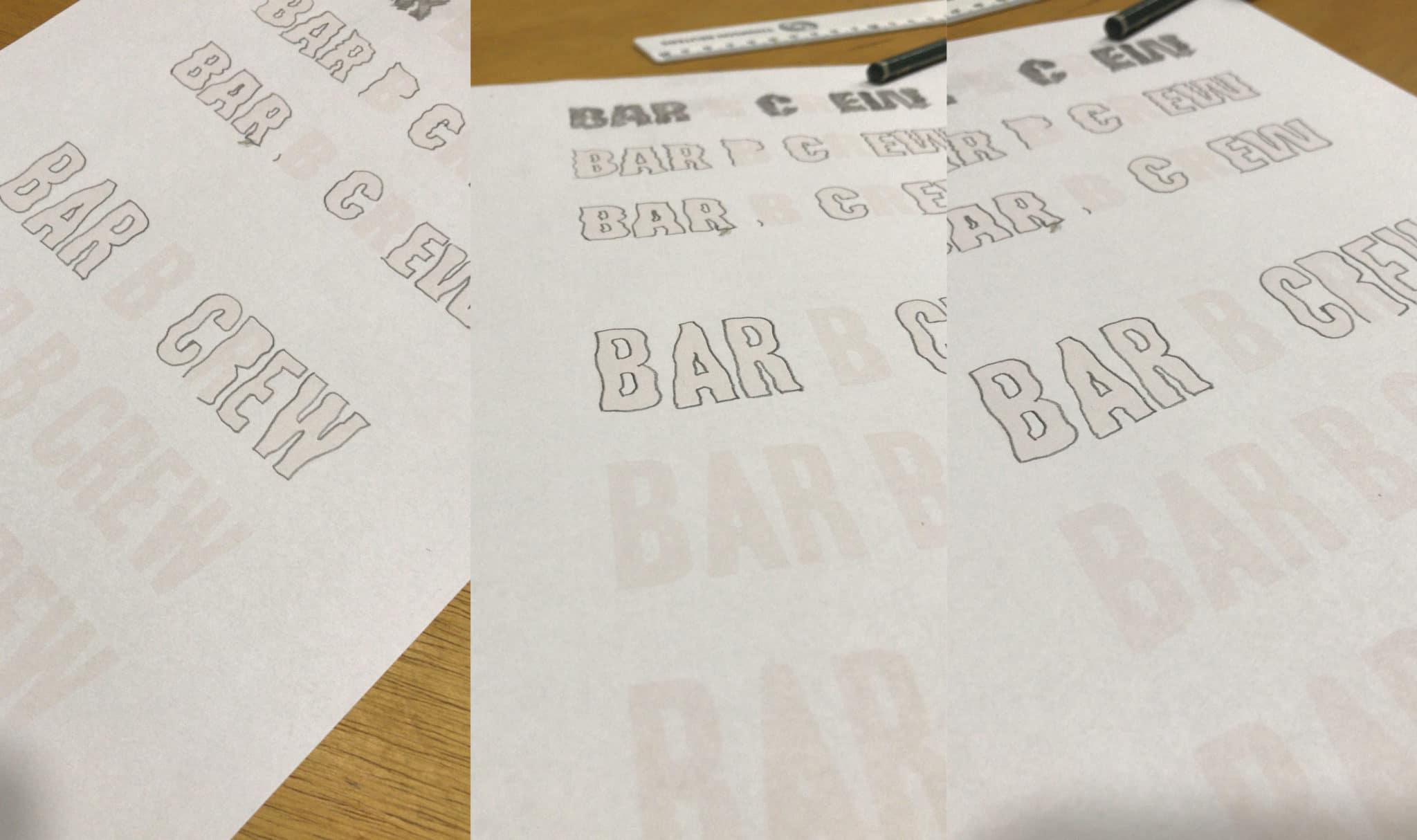 redesing de logotipo bar b crew