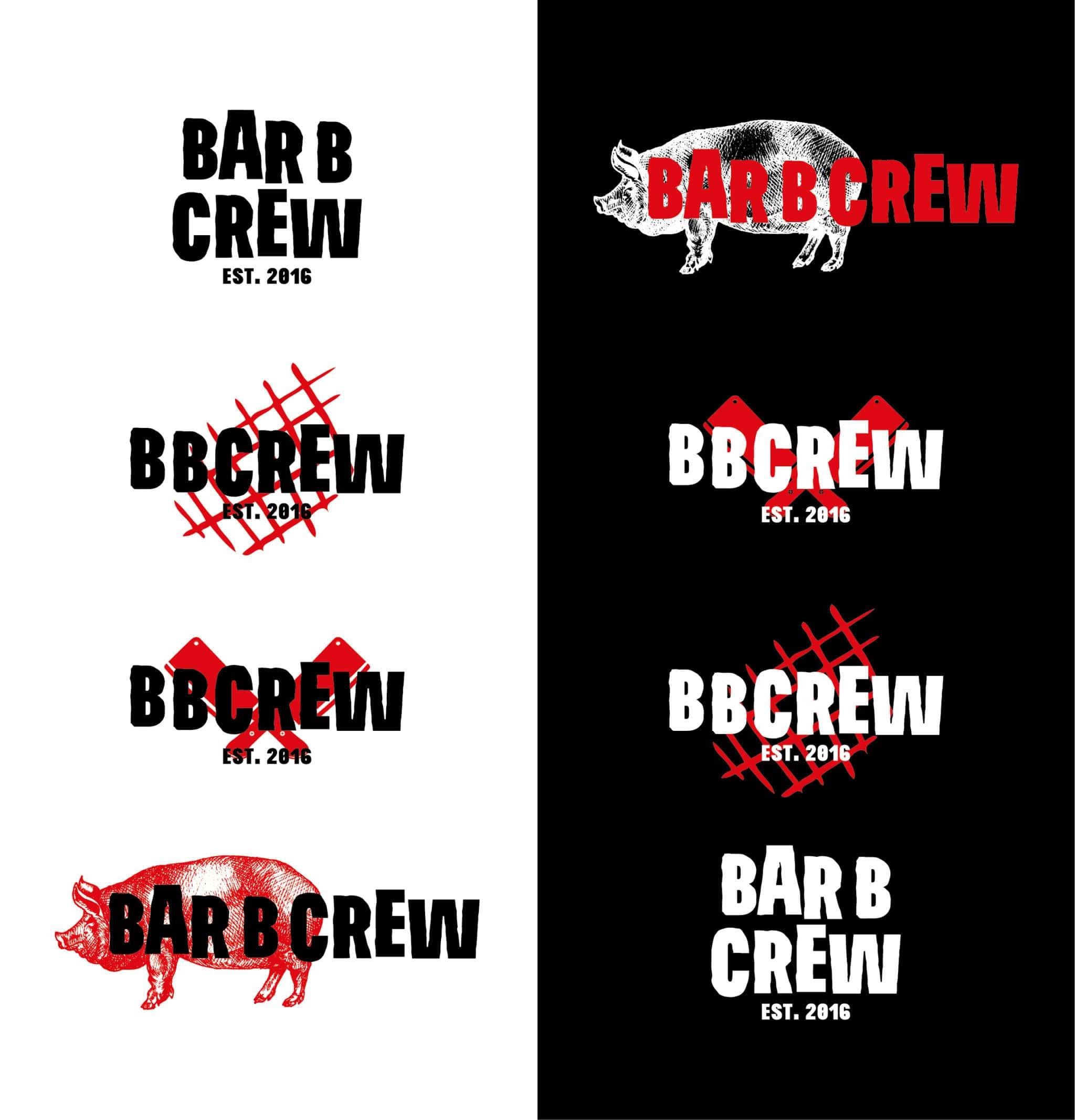 redesing logotipo bar b crew